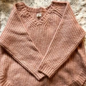 Worn once-Pink oversized sweater